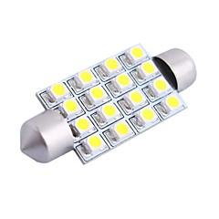 gc® 42mm 4W 200lm 6000K 16x3528 SMD witte LED voor in de auto lezen / kenteken / deur lamp (12V)