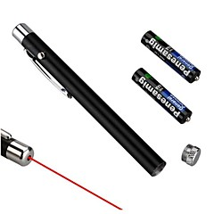 LS325 New Powerful Bright Pen Shape Red Ray Beam Laser Pointer (5mW, 650nm, 2xAAA, Black)