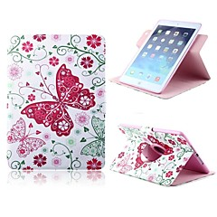 Lovely Butterfly Pattern PU Leather Full Body Case with Card Slot and Stand for Apple iPad 2/3/4