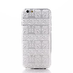 White Lucky Elephants Pattern Ultra Thin TPU Soft Back Cover Case for iPhone 7 7 Plus 6s 6 Plus