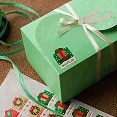 multifunctionele kerst stijl bakken afdichten decoratieve diy stickers (8 stickers / pcs)