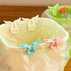 2PCS Horn Shape Garbage Bag Racks (Random Color)