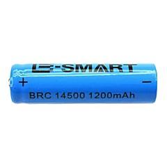 E-smart 3.7V Rechargeable 1200mAh 14500 Lithium Ion  Battery