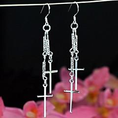 Fashionable Diesis-Shaped Silver 925 Dop Earrings 1 Pair