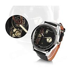 elegante reloj de pulsera de cuarzo analógico de los hombres w / calendario