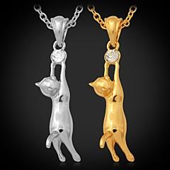 Dames Hangertjes ketting Strass Platina Verguld Verguld Legering Kostuum juwelen Sieraden Voor Bruiloft Feest Dagelijks Causaal Sport