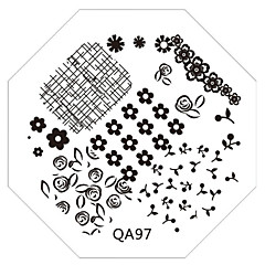 Nail Art Stamp Stamping Image Template Plate QA Series NO.97