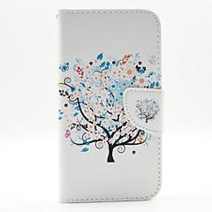 För LG-fodral Korthållare Plånbok med stativ Lucka fodral Heltäckande fodral Träd Hårt PU-läder för LG LG G3
