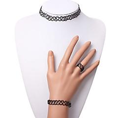 Eruner®Elastic Tattoo Choker Necklace Set(Black)