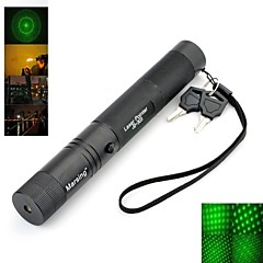 Marsng HF-303 5mw 532nm  Starry Sky Green Laser Pen Pointer Flashlight - Black/Golden