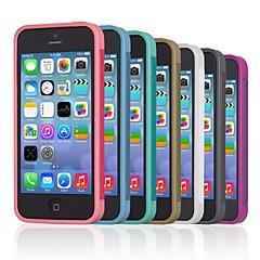 Côr Sólida - iPhone 5/iPhone 5S - Cobertura de Trás ( Preto/Branco/Verde/Azul/Rosa/Roxo/Naval , TPU )