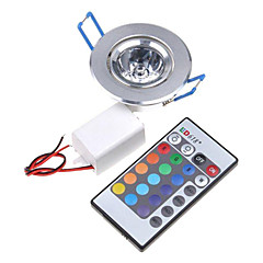 3W Φωτιστικό Οροφής / Φωτιστικό Πάνελ Χωνευτή εγκατάσταση 1 Ενσωματωμένο LED 200-250 lm RGB Τηλεχειριζόμενο AC 85-265 V