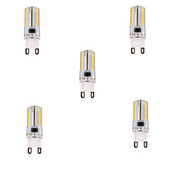 YWXLight 5W G9 LED Corn Lights T 80 SMD 3014 450 lm Warm White / Cool White Dimmable AC 220-240 V 5 pcs