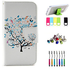 The Beauty of The Tree Pattern Full Body Case with Stylus ,Anti-Dust Plug and Stand for iPhone 4/4S