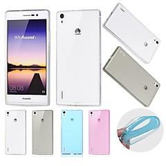 Varten Huawei kotelo Ultraohut / Läpinäkyvä Etui Takakuori Etui Yksivärinen Pehmeä TPU Huawei Huawei P7
