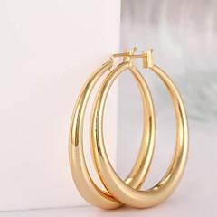 Earring Hoop Earrings Jewelry Women Brass 2pcs Silver