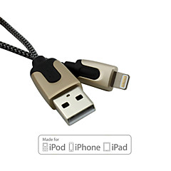 D&S MFi Certified 8 Pin USB Sync Data/Charging Cable for iPhone 5/5S/6/6 Plus iPad air/air2 (100cm)