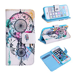 High Quality Cartoon Painted Campanula Series PU Full Body Case with Stand for iPhone 5/5S