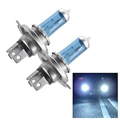 H4 55W Super White HID Xenon Halogen Bulb Headlight for Cars (DC 12V/ pair)