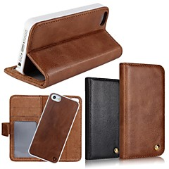 2 In 1 Top Quality Genuine Leather Wallet Case with Stand Cover for iPhone 5/5S (Assorted Colors)