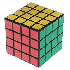 Shengshou® Cube de Vitesse  4*4*4 Vitesse Niveau professionnel Cubes magiques Noir Autocollant Scrub Anti-pop ressort réglable PVC ABS