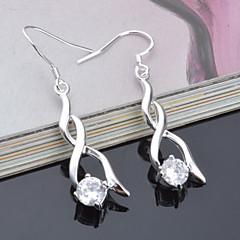 Titanium Steel Earring Drop Earrings Wedding/Party 2pcs