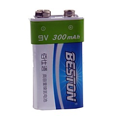 BESTON 9V 300mAh Rechargeable Ni-MH Battery