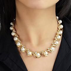 Halsband Pärlhalsband / Strands Necklaces Smycken Bröllop / Party / Dagligen / Casual Mode Pärla / Legering Gyllene 1st Present