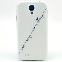 hvide bogstaver TPU blød etui til Samsung Galaxy s4 i9500
