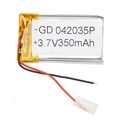3.7V 350mAh Lithium Polymer Battery for Cellphones MP3 MP4 (4*20*35)