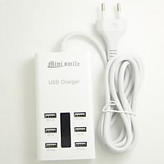 mini smil ™ 100-240V eu stik USB-strømforsyningen med 6 USB Power porte til moblie telefon og tabletter
