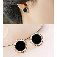 Alloy/Rhinestone Earring Stud Earrings Party/Sports 1set