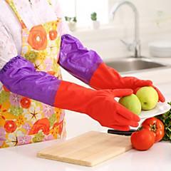 50cm lange mouwen rubber latex handschoenen keuken wasbak schoonmaken waterdicht