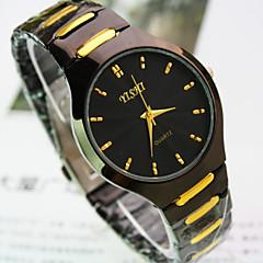Men's New Explosion Round Dial Steel Strap Fashion Business Quartz Watch