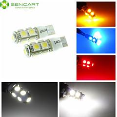 T10 LED 2-Mode-blau / rot / warmweiß / grün / gelb / weiß 2,5 W 9x5050smd 120lm für Auto-Glühbirne (DC12-16V)