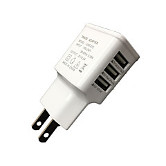 cwxuan ™ universaali eu plug 3-porttinen USB-laturi iPhone 6/6 plus / 5 / 5s samsung S4 / 5 HTC LG ja muut