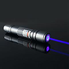 Ficklampe formad - Aluminum Legering - Blå laserpekare