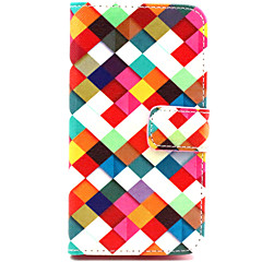 For Nokia etui Pung Kortholder Med stativ Etui Heldækkende Etui Geometrisk mønster Hårdt Kunstlæder for NokiaNokia Lumia 830 Nokia Lumia