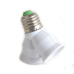 1db y típusú duális csatlakozó e27 e27 a lámpa adapter