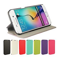 ultravékony bőr felhajtható fedél tok Samsung Galaxy S6 él (vegyes színek)