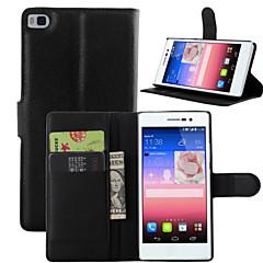Mert Huawei tok / P8 Pénztárca / Kártyatartó / Állvánnyal / Flip Case Teljes védelem Case Egyszínű Kemény Műbőr Huawei Huawei P8