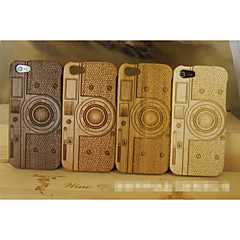 Unique Handmade Natural Wood Wooden Camera Pattern Hard bamboo Case Cover for iPhone 5/5S