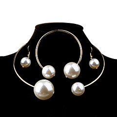 Women Alloy / Pearl Jewelry Set Necklace/Earrings Wedding / Party / Daily / Casual 1set