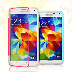Thin Transparent Clamshell Triple Don't Flip Touch Screen Phone Case for Samsung S5 I9600(Assorted Colors)