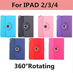 360 Degree Rotating w Swivel Stand PU Leather Case Cover For Ipad 2/3/4