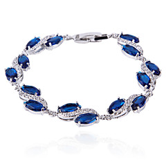 High Quality Fashion Women Platinum 10 KT Teardrop-Shaped S-Shaped Zircon Bracelets