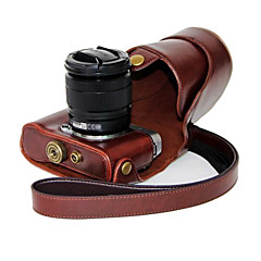 한국 후지 필름 X-A2 X-A1 X-M1에 대한 dengpin® PU 가죽 오일 피부 분리형 카메라 커버 케이스 가방 (모듬 색상)