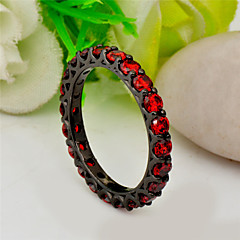 High Quality Fashion Women's Black Gold 10 KT Small Round Drill Zircon Ring
