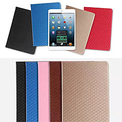 Grid TPU Card Wallet Leather Case Stand Cover for Apple iPad mini 1/2/3(Assorted Colors)