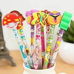 Cute Cartoon Stylish Pencil with Erasers(Random Delivery)